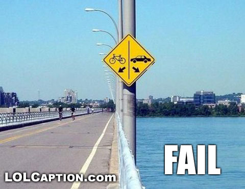funny images of bikes. -funny-signs-car-ike-fail